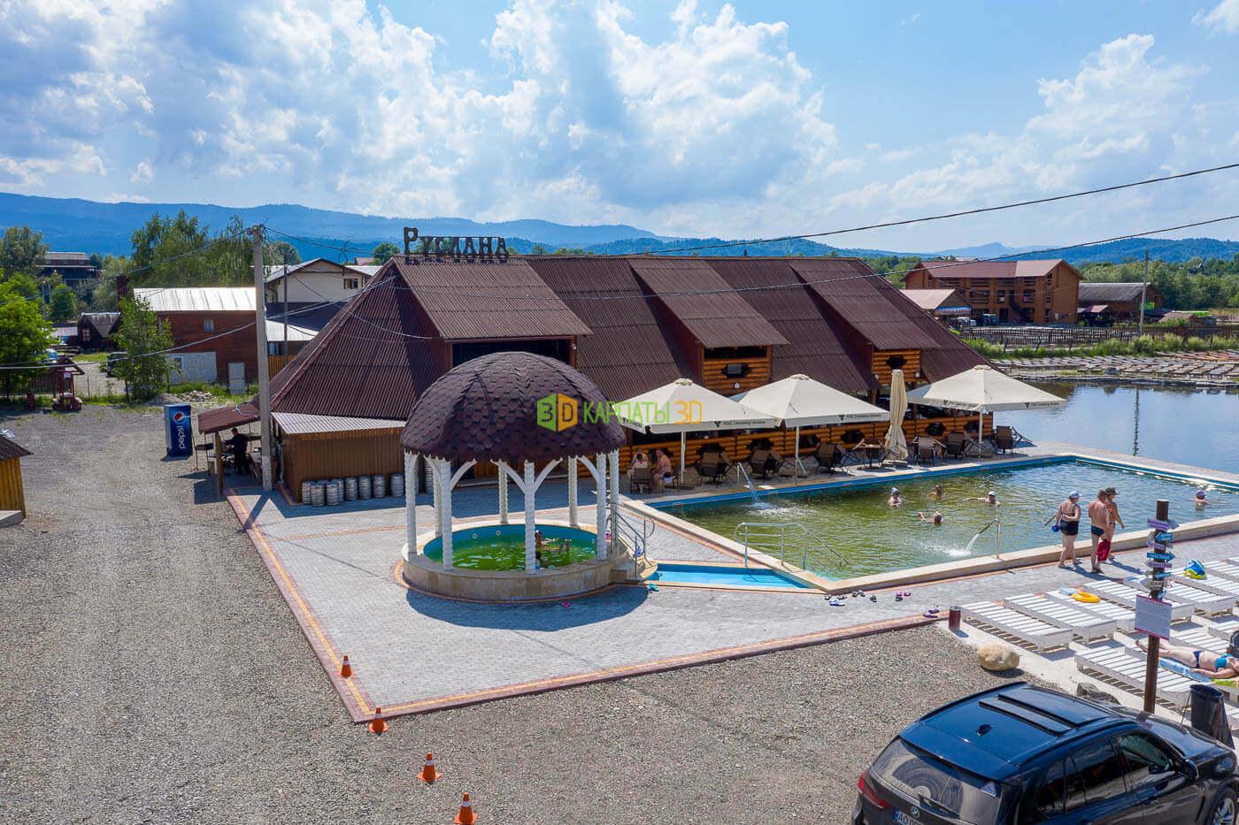 Соленые озера в Солотвино база отдыха Руслана в 3Д